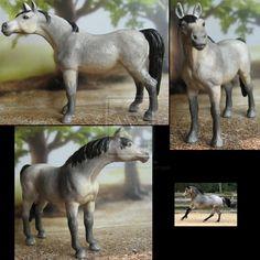 Commission: repaint Schleich Arabian mare by Schleichgirl1976.deviantart.com on @DeviantArt