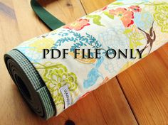 Items similar to Yoga Bag Sewing Pattern, Yoga Mat Bag Pattern, PDF Instructions on How to Make A Simple Yoga Bag on Etsy Bag Patterns To Sew, Sewing Patterns, Yoga Mat Bag, Yoga Pants, Simple Yoga, Trending Outfits, Handmade Gifts, Bowls, Baskets