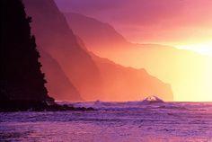 The Napali Coast in Kauai, Hawaii. BEEN HERE! my little piece of heaven.