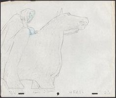 LOTR Ralph BAKSHI 1978 NAZGUL Ring Wraith production animation Cell drawing