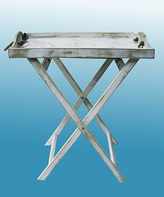 Weathered Serving Tray & Stand would make a great side table