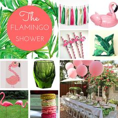 Palm Springs meets Flamingo! Cute Flamingo Baby Shower Theme.