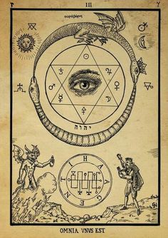 Alchemy, the least understood of the mantic arts. Alchemy is founded on elemental scientific principles. The goal of alchemy is purification, distilling, down to the primordial spirit/energy. Occult Symbols, Magic Symbols, Occult Art, Ancient Symbols, Viking Symbols, Egyptian Symbols, Illustrations Harry Potter, Kreis Tattoo, Ouroboros