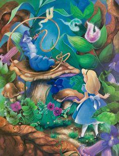 Super Cats Cartoon Illustration Alice In Wonderland Ideas Alicia Wonderland, Alice In Wonderland Artwork, Alice And Wonderland Quotes, Adventures In Wonderland, Caterpillar Alice In Wonderland, Alice In Wonderland Pictures, Lewis Carroll, Disney Love, Disney Art