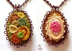 crocheted pendants