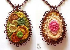 Crochet Jewelry by Annamária Kricsár. Inspiration!