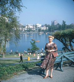 Vintage Los Angeles ~ MacArthur Park, 1950 the way it should look today.  #50s