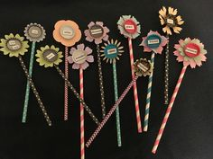 Quirky bottle cap and word flowers! Fun to make!