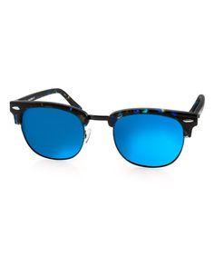 Blue & Black Milo Browline Sunglasses