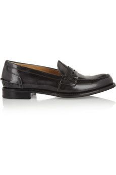 Church's Sally polished-leather penny loafers | NET-A-PORTER