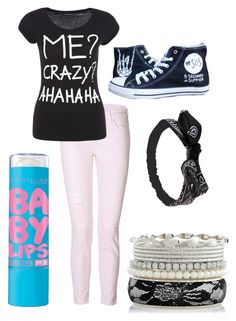 """Untitled #36"" by sbfreshwater ❤ liked on Polyvore featuring moda, Current/Elliott, Maybelline y Wet Seal"