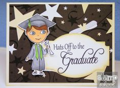 "Love that you can switch out girl or boy for this ""Graduates"" stamp set"