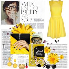 """black and yellow melo"" by latinaconestilo on Polyvore"