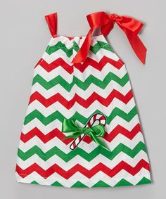 Take a look at this Red & Green Candy Cane Zigzag Swing Dress- Infant, Toddler & Girl by Royal Gem on #zulily today!