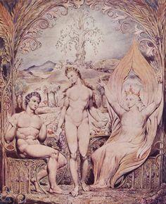 William Blake - Archangel Raphael with Adam and Eve 1808