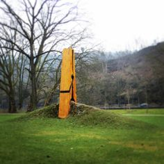 Giant Peg sculpture in Claudefountaine Park, Belgium. Such a gorgeous sight to see! #installation #sculpture #everydayobjectart #art #publicart