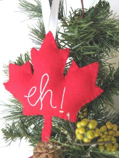 Canada Maple Leaf Christmas Ornament