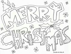 Merry Christmas Coloring Pages | merry_christmas_sign.gif | applique ...