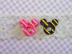 4 pcs Mouse Doughnuts with Cream Assorted Color Sweet by forestdiy