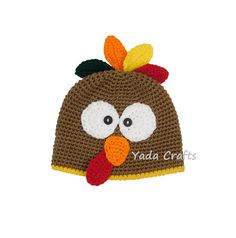 fd825155815 Crochet Newborn turkey outfit set baby Turkey Hat Beanie Thanksgiving    Chicken hat Rooster hat earflap costume Photo prop photography prop