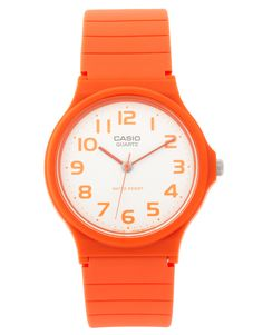 Casio Watch MQ-24CC-4BEF with Orange Analogue Dial and Orange Resin Strap