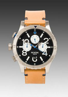 Nixon The 48-20 Chrono Leather in Natural
