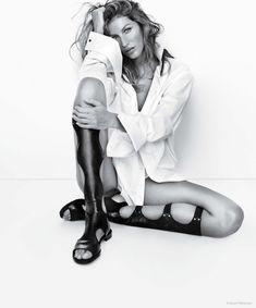 Gisele Bundchen Sports Sandal Styles in Stuart Weitzman Spring '15 Ads these shoes tho!