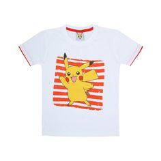 Jazzup Pokemon White T-Shirt For Boys