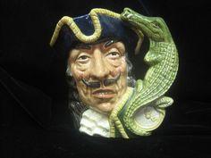Capt Hook Royal Doulton Mug D 6597 by MyRedFlamingo on Etsy, SOLD