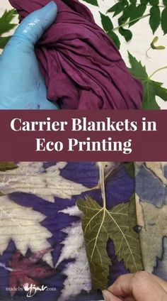Carrier Blankets in Eco Printing - Made By Barb - bringing in more options Natural Dye Fabric, Natural Dyeing, Shibori, Leaf Projects, Sewing Projects, How To Dye Fabric, Dyeing Fabric, Linocut Prints, Botanical Prints
