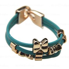 [EUR € 1.90]  - Bowknot PU Bracelet (couleurs assorties)