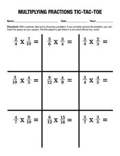 Worksheets On Multiplying Fractions  Worksheets Math And Math