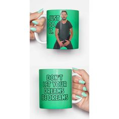 Shia Labeouf Just Do It Funny Mug Gifts for Him Meme Mug Unique Mug... ($14) ❤ liked on Polyvore featuring home, kitchen & dining, drinkware, drink & barware, grey, home & living and mugs