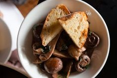 Mushrooms in Red Wine with Confit Eschalots @ Bloodwood, Newtown, Sydney