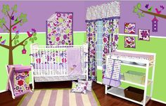 Bacati Purple Botanicals Baby Bedding and Accessories