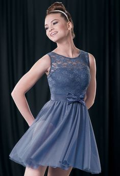 Lyrical solo - Invisible by Hunter Hayes Weissman™ | Bow Accent Lace Day Dress