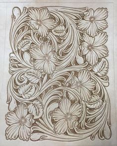 #TannerCustomLeather #floraltooledleather #handtooledleather Leather Carving, Leather Art, Sewing Leather, Leather Books, Leather Pattern, Custom Leather, Leather Design, Leather Tooling, Handmade Leather