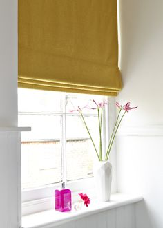 The Tetbury Mustard Made To Measure Roman Blind Can Add A Pop Of Colour To  Your Bathroom Or Kitchen Or Blend In With Your Theme When Needed.