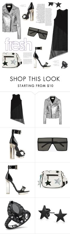"""""""Star Power"""" by lisalockhart ❤ liked on Polyvore featuring DAMIR DOMA, Yves Saint Laurent, Versace, Marc Jacobs, Anja and Bling Jewelry"""
