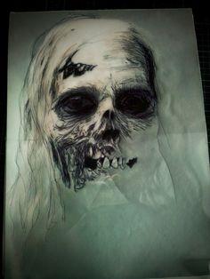 Blueprint for our zombie-planet.de t-shirt by Jean-Marv!