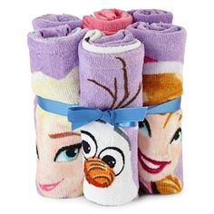 Disney Frozen Washcloth Set: Disney Frozen 6 washcloths Purple with 1 Pink X Frozen 6, Frozen Toys, Disney Frozen Elsa, Little Girl Toys, Baby Girl Toys, Toys For Girls, Original Barbie Doll, Towel Boy, Pink Towels
