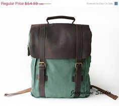 Holiday Sale Genuine Cow leather bag/ canvas school bag/ BACKPACK/ Leather Briefcase / leather Messenger bag / Laptop bag / Men's leather c