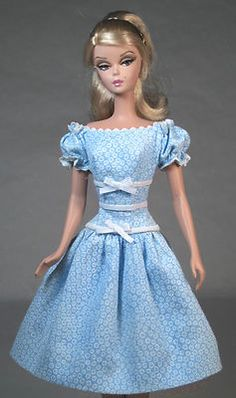 My Blue Heaven Vintage Barbie Silkstone Barbie Doll Fashion Dress Clothing | eBay