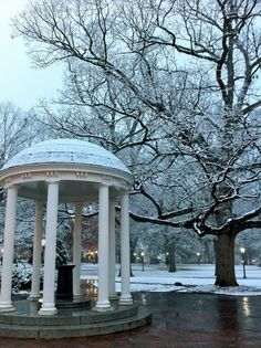 Chapel Hill in the winter♥