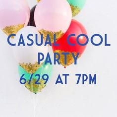 "THEME ANNOUNCED!Casual Cool Party 6/29 @ 7PM! I'm so excited to host my first posh party! Join me on June 29th at 7pm! The theme will be ""Casual Cool""!  I will be sharing from the main showroom and also looking for host picks from new closets that have a clean aesthetic and eclectic vibes.                                                               I'm so excited to curate a great showroom and showcase some great items! I am still actively looking for compliant closets and would love…"