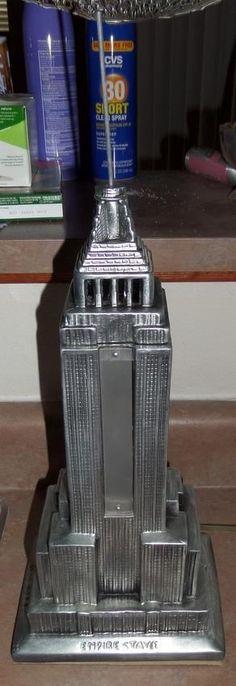 Art Deco Lamp; Empire State Building New York - ART DECO CHRYSLER ...
