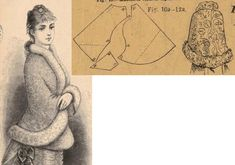 Illustrirte Frauen Zeitung Sortié de bal of brocade and dow fur. 1880s Fashion, Victorian Fashion, Jacket Pattern, Historical Clothing, Cool Costumes, Costume Design, Vintage Sewing, Outerwear Jackets, Sewing Patterns