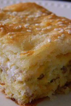Crescent Breakfast Casserole – like a big buttery breakfast sandwich