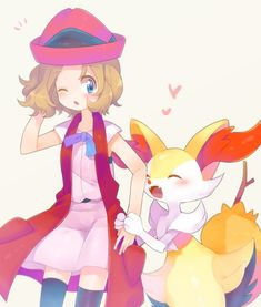Serena and her Braixen ♡ I give good credit to whoever made this Photo Kawaii, Pokemon Go Cheats, Pokemon Ash And Serena, Pokemon Eeveelutions, Pokemon People, Cute Pokemon Wallpaper, Shy Girls, Pokemon Fan Art, Queen