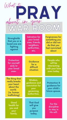 How to Create a War Room Prayer Strategy.